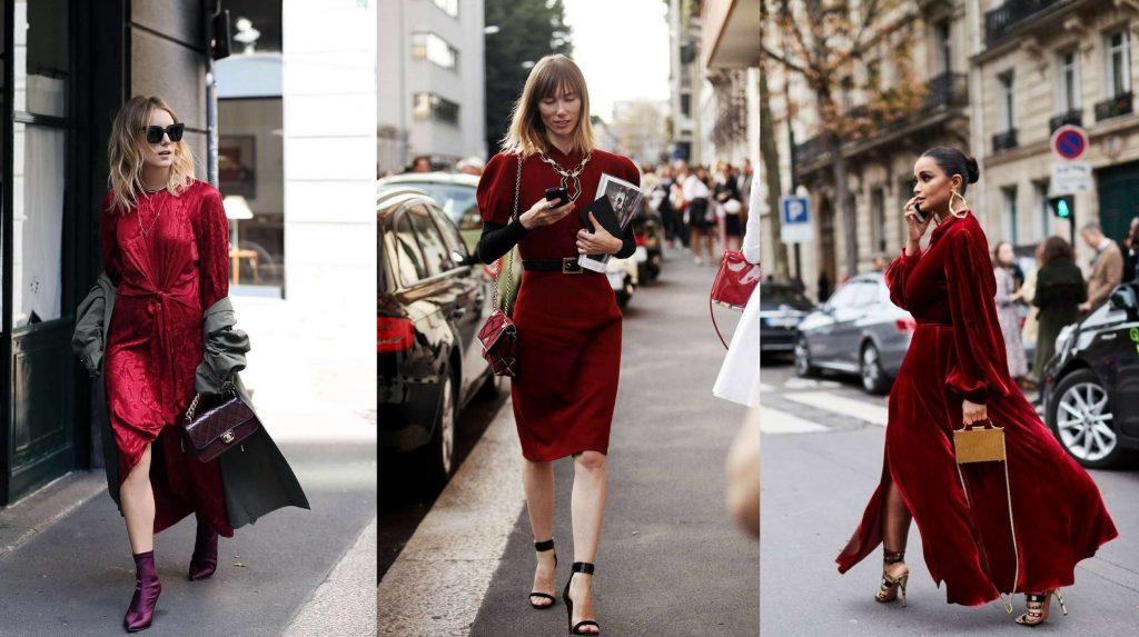 trang phục dự tiệc đỏ burgundy cho mùa lễ hội 35