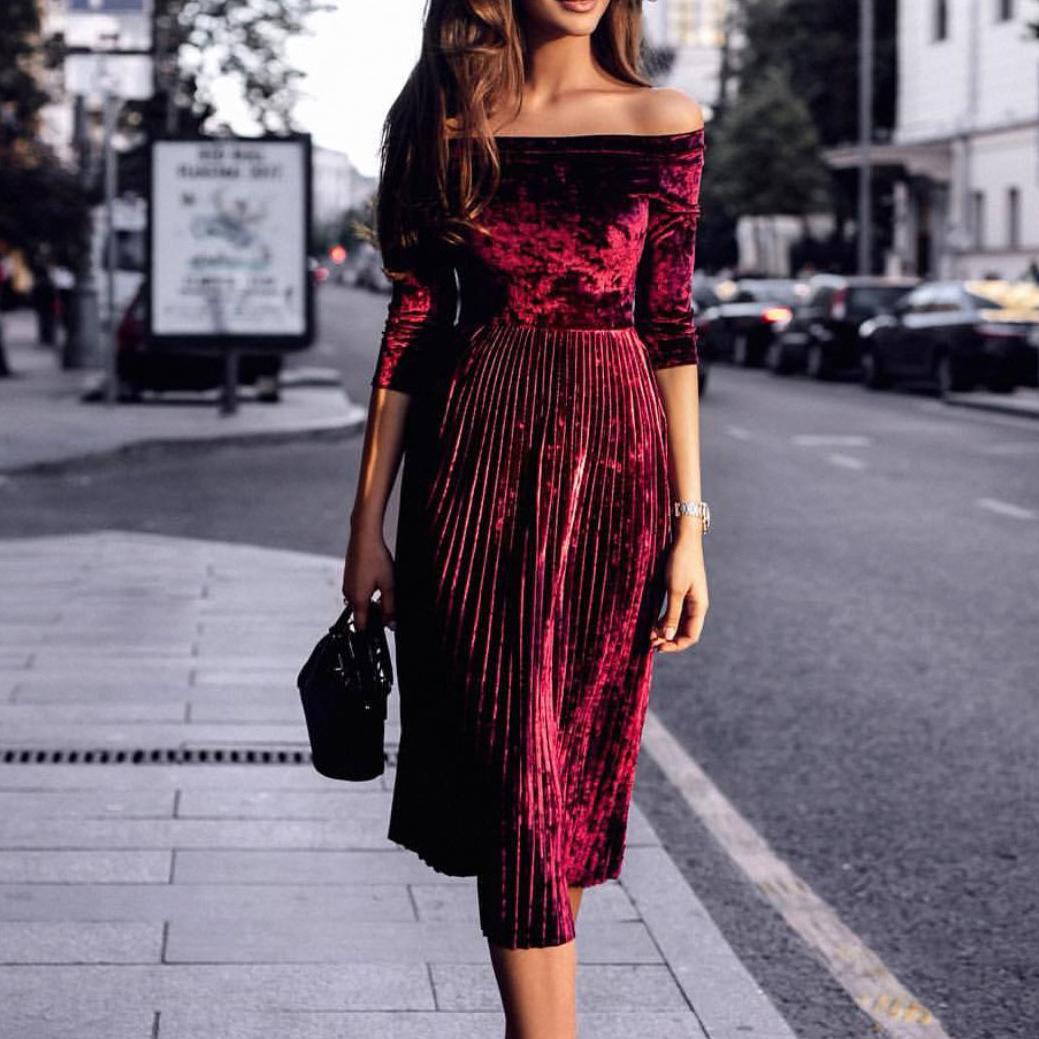 trang phục dự tiệc đỏ burgundy cho mùa lễ hội 8