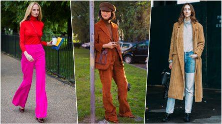Biến hóa đa dạng với trang phục nhung kẻ đầy màu sắc