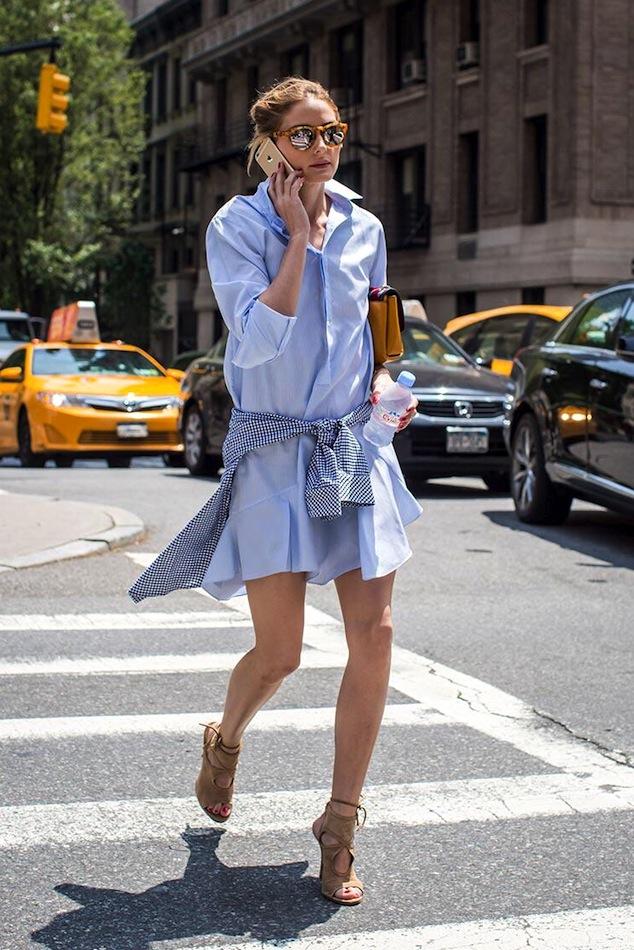 trang phục mùa đông màu xanh lơ baby blue 07