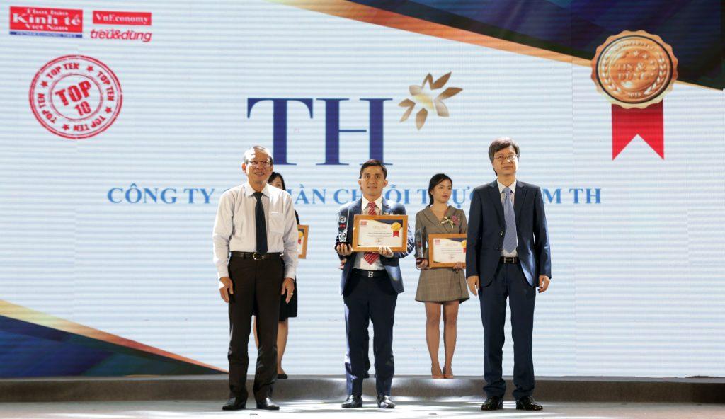 Thương hiệu TH true MILK nhận giải thưởng Tin và Dùng 2018