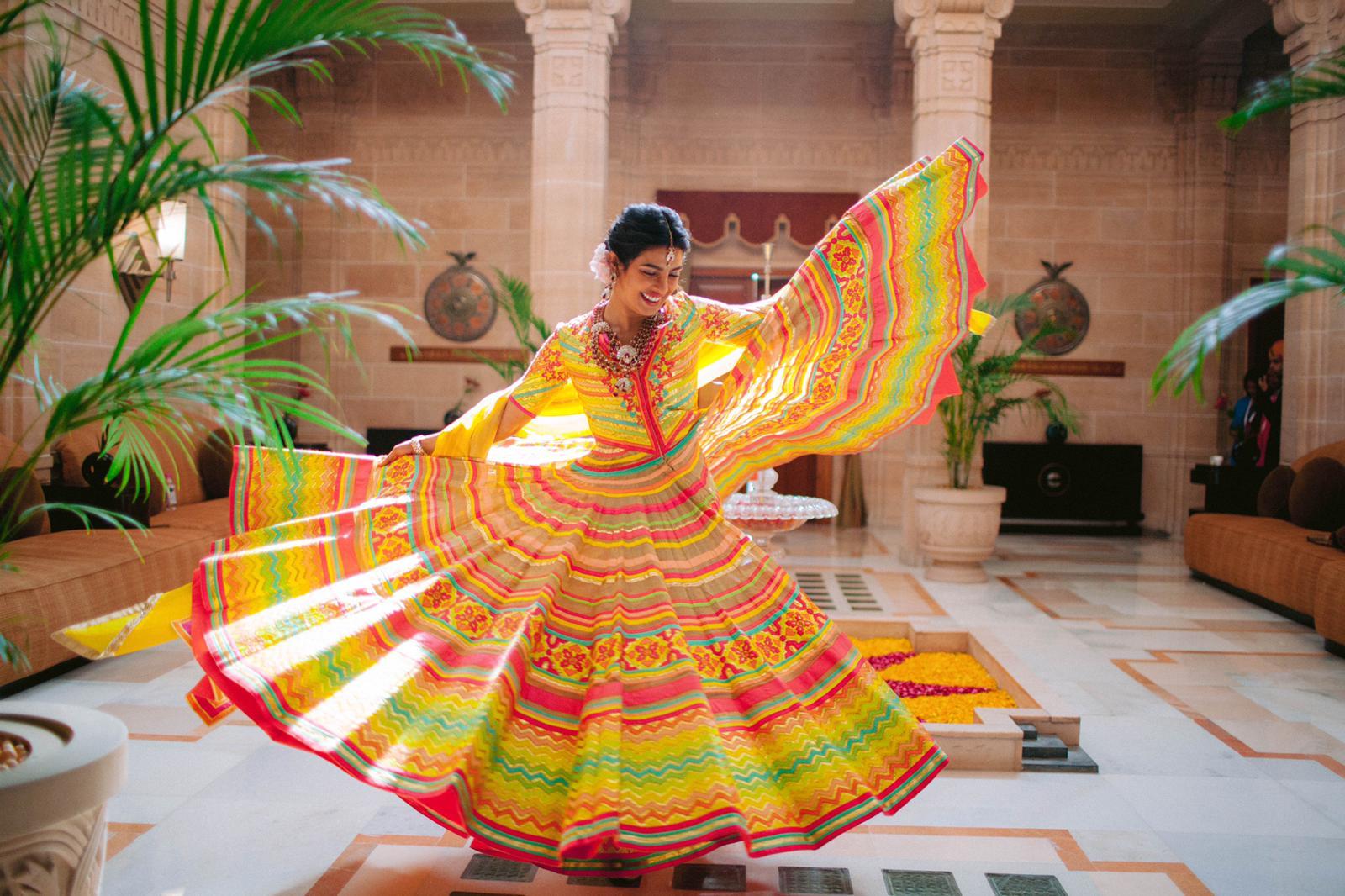 thời trang cưới của Priyanka Chopra