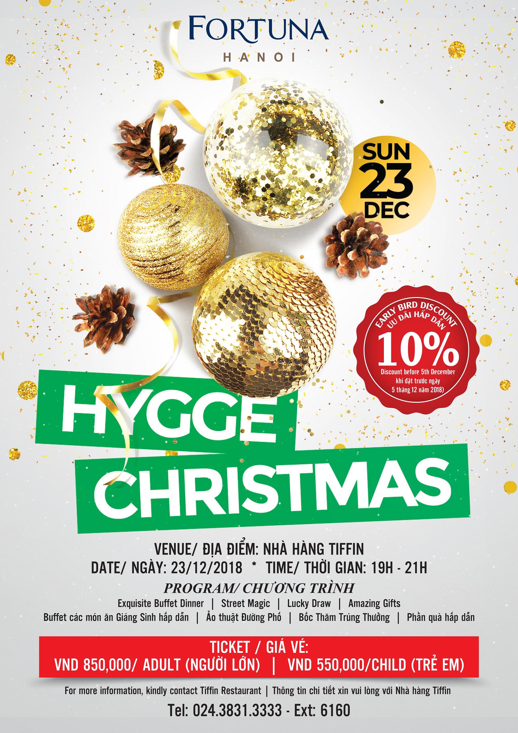 Đón Giáng Sinh ấm áp tại khách sạn Fortuna Hà Nội