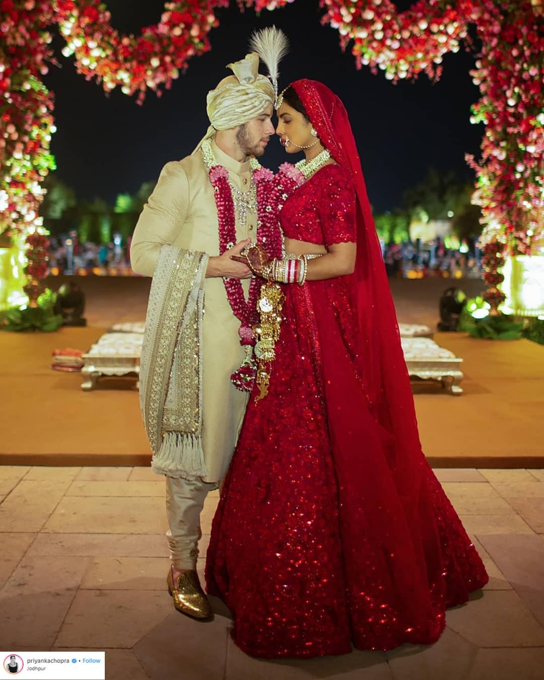 thời trang cưới của Priyanka Chopra 7