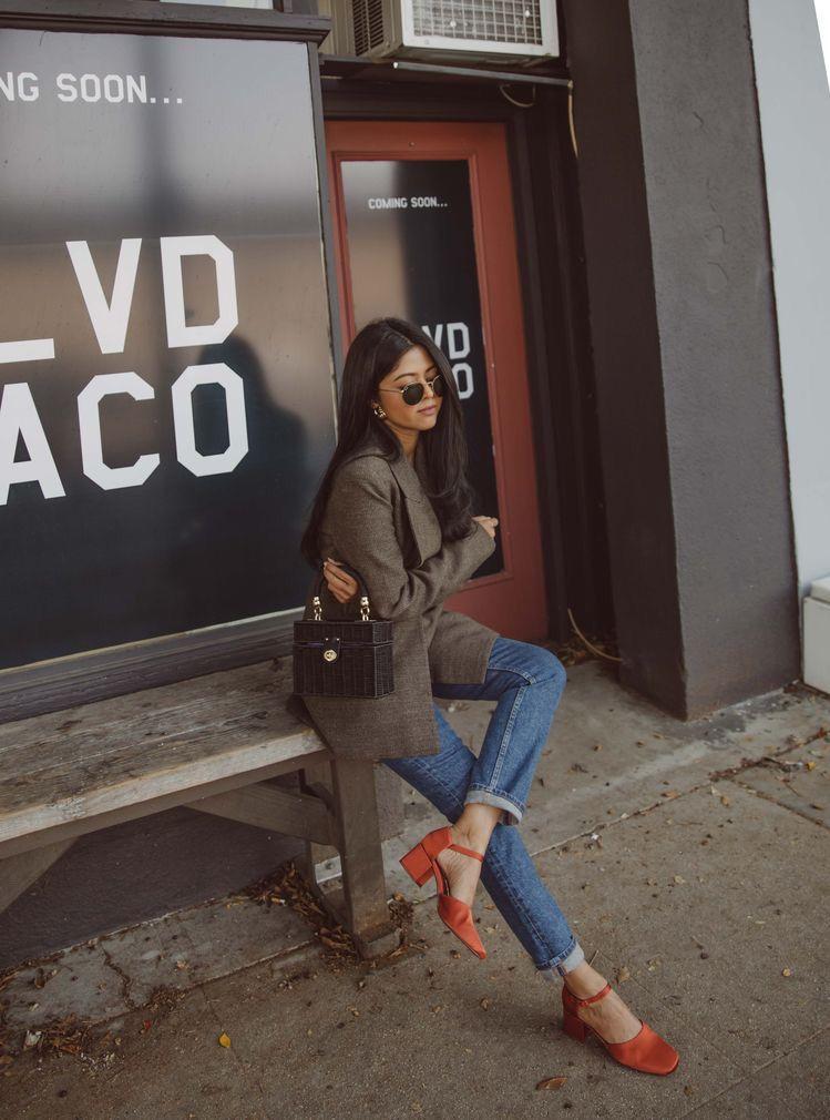 kiểu giày đẹp giày cao gót vuông