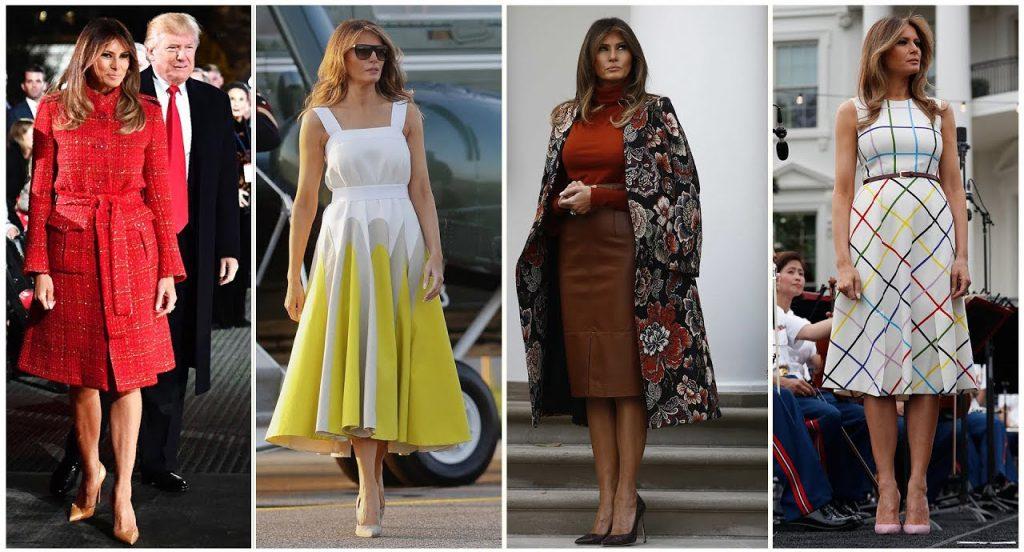 So sánh phong cách thời trang đối lập của Melania Trump và phu nhân Tập Cận Bình