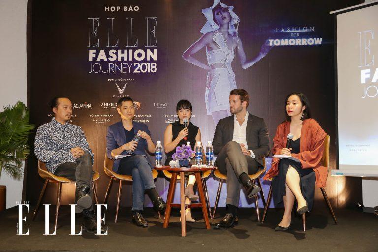 elle fashion show 2018 họp báo