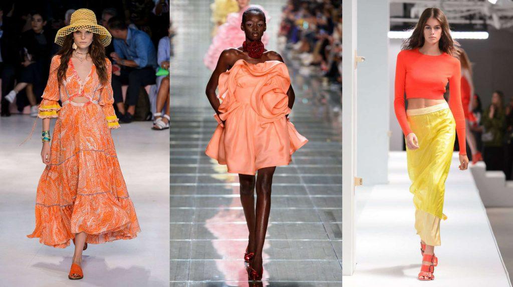 trang phục màu cam san hô 1