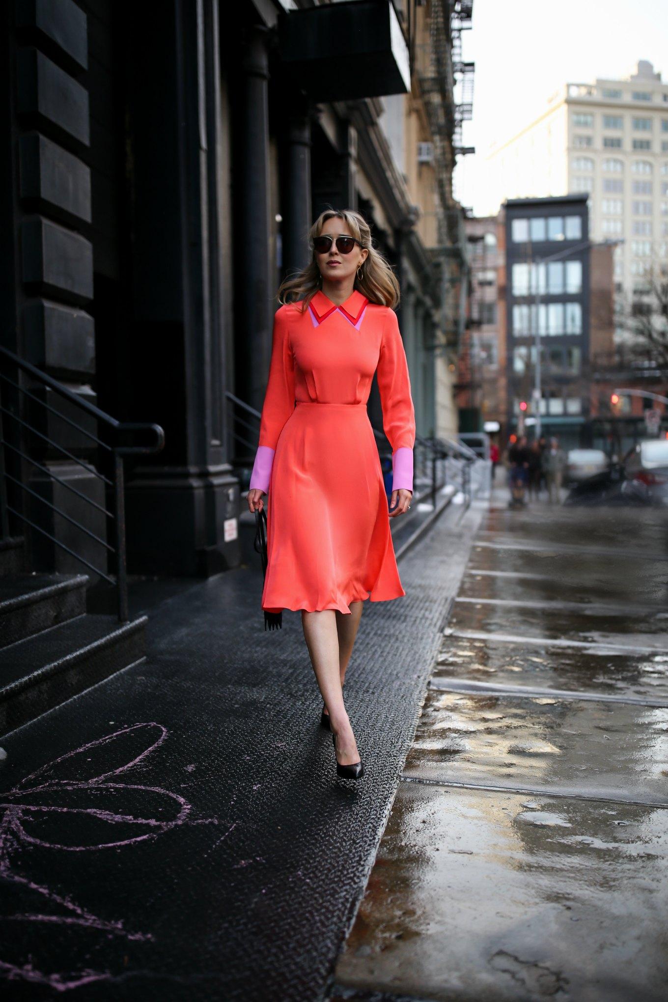 trang phục màu cam san hô 2