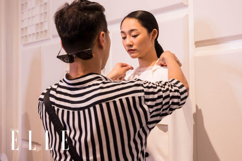 buổi fitting elle fashion runway show 2018 9