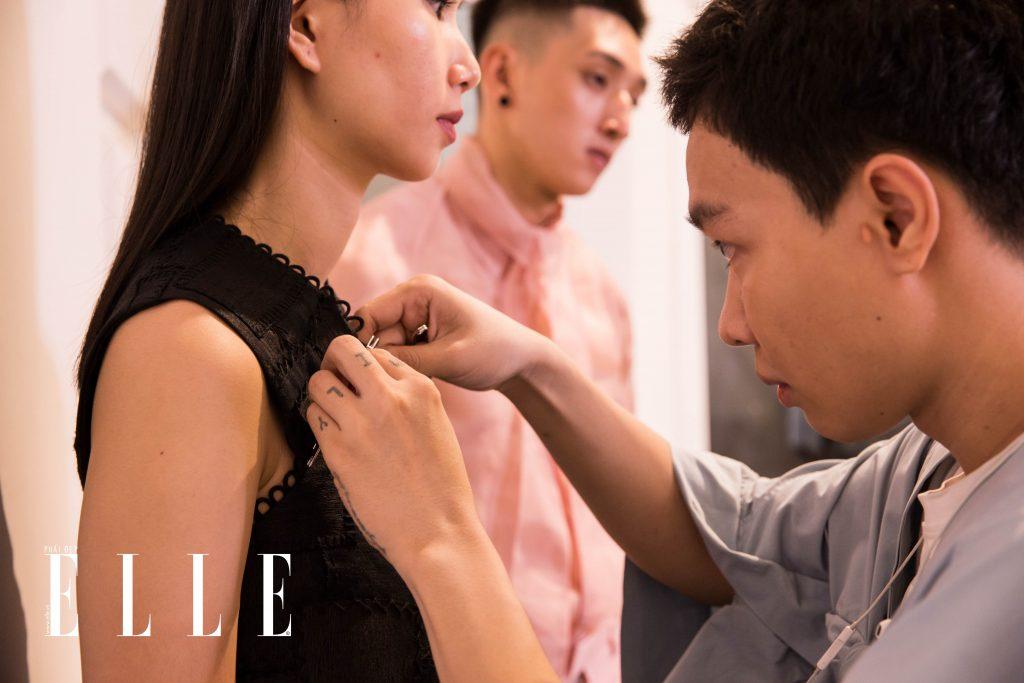 buổi fitting elle fashion runway show 2018 12