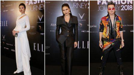 Mỹ Tâm, Thanh Hằng và Đàm Vĩnh Hưng xuất hiện rạng rỡ trên thảm đỏ ELLE Fashion Journey 2018