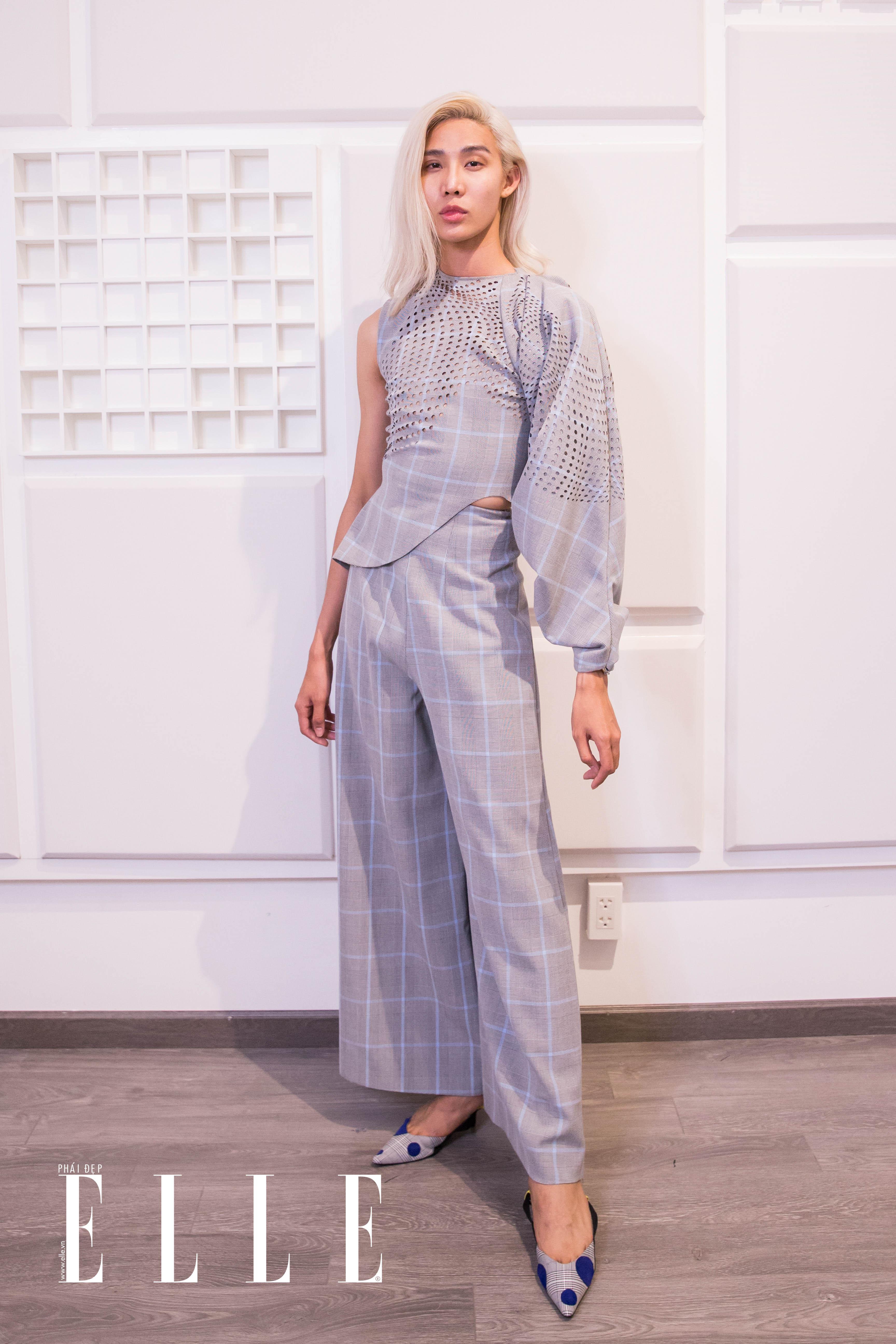 mid nguyễn elle fashion runway show