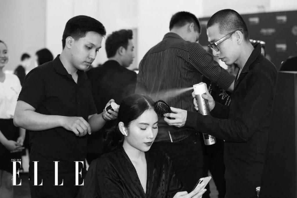 elle fashion journey 2018 hậu trường làm tóc