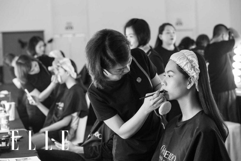 elle fashion journey 2018 hậu trường trang điểm shiseido 4