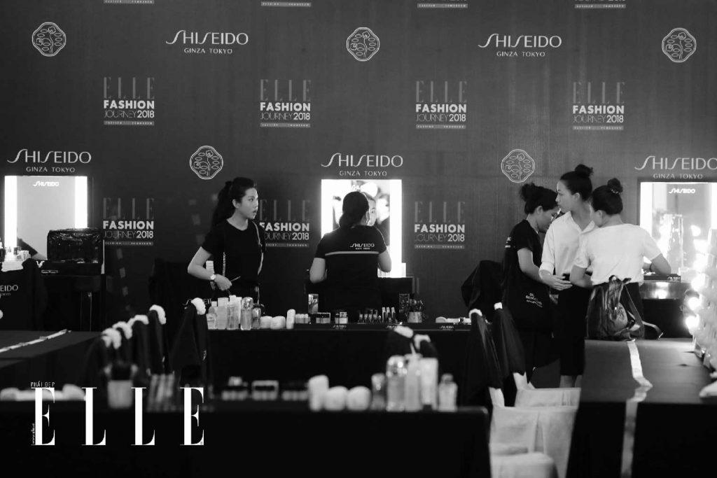 elle fashion journey 2018 hậu trường trang điểm shiseido 8