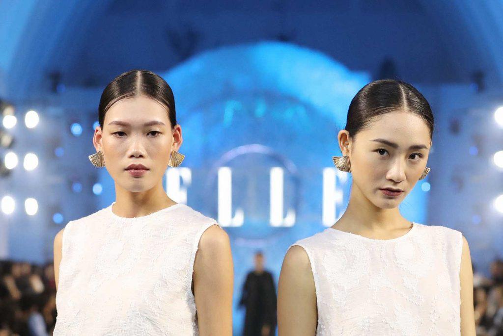 elle fashion journey 2018 hậu trường trang điểm shiseido look 1