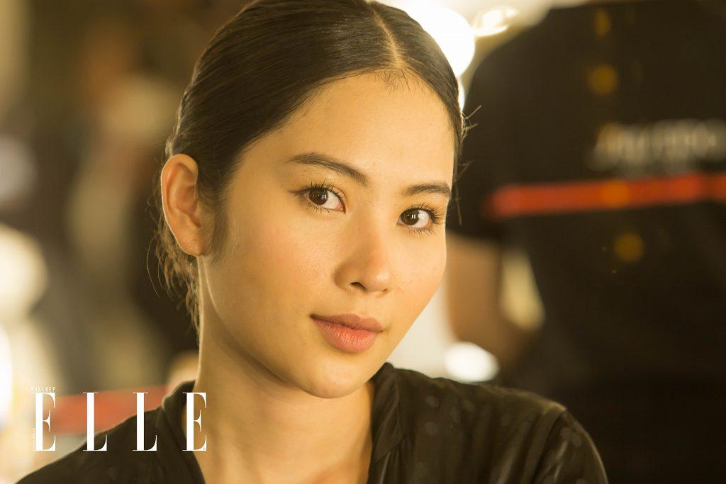 elle fashion journey 2018 hậu trường trang điểm shiseido makeup look 1