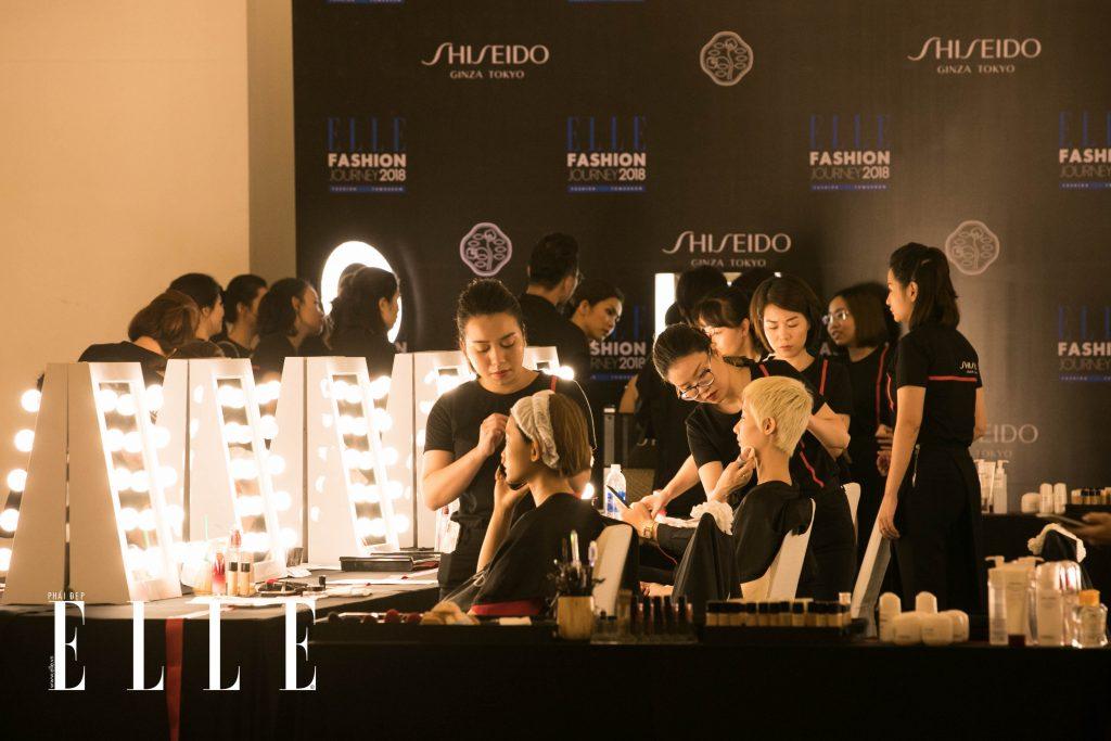 elle fashion journey hậu trường trang điểm shiseido 10
