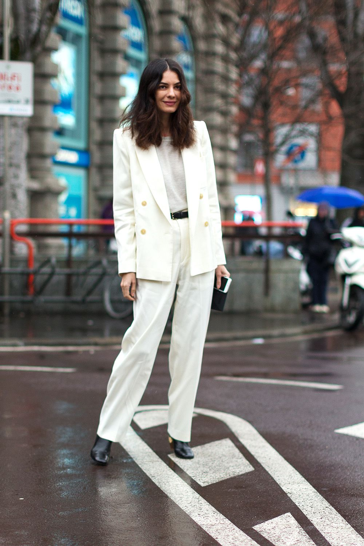 phối trang phục đẹp công thức white on white 10