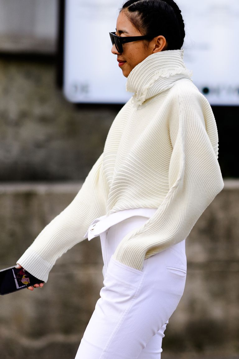 phối trang phục đẹp công thức white on white 2