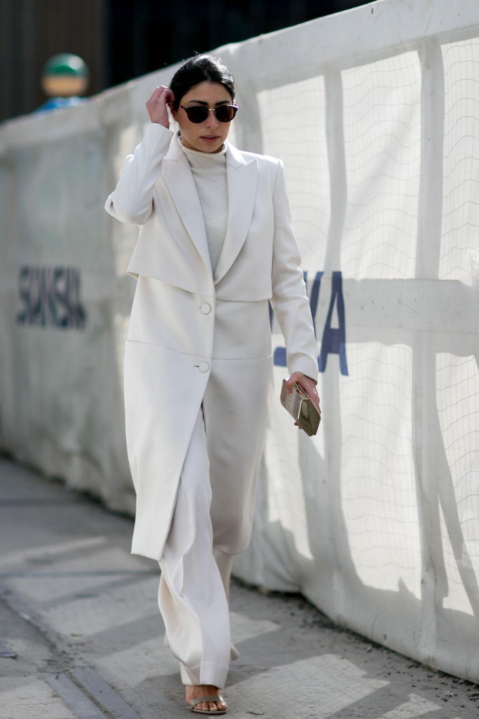 phối trang phục đẹp công thức white on white 5
