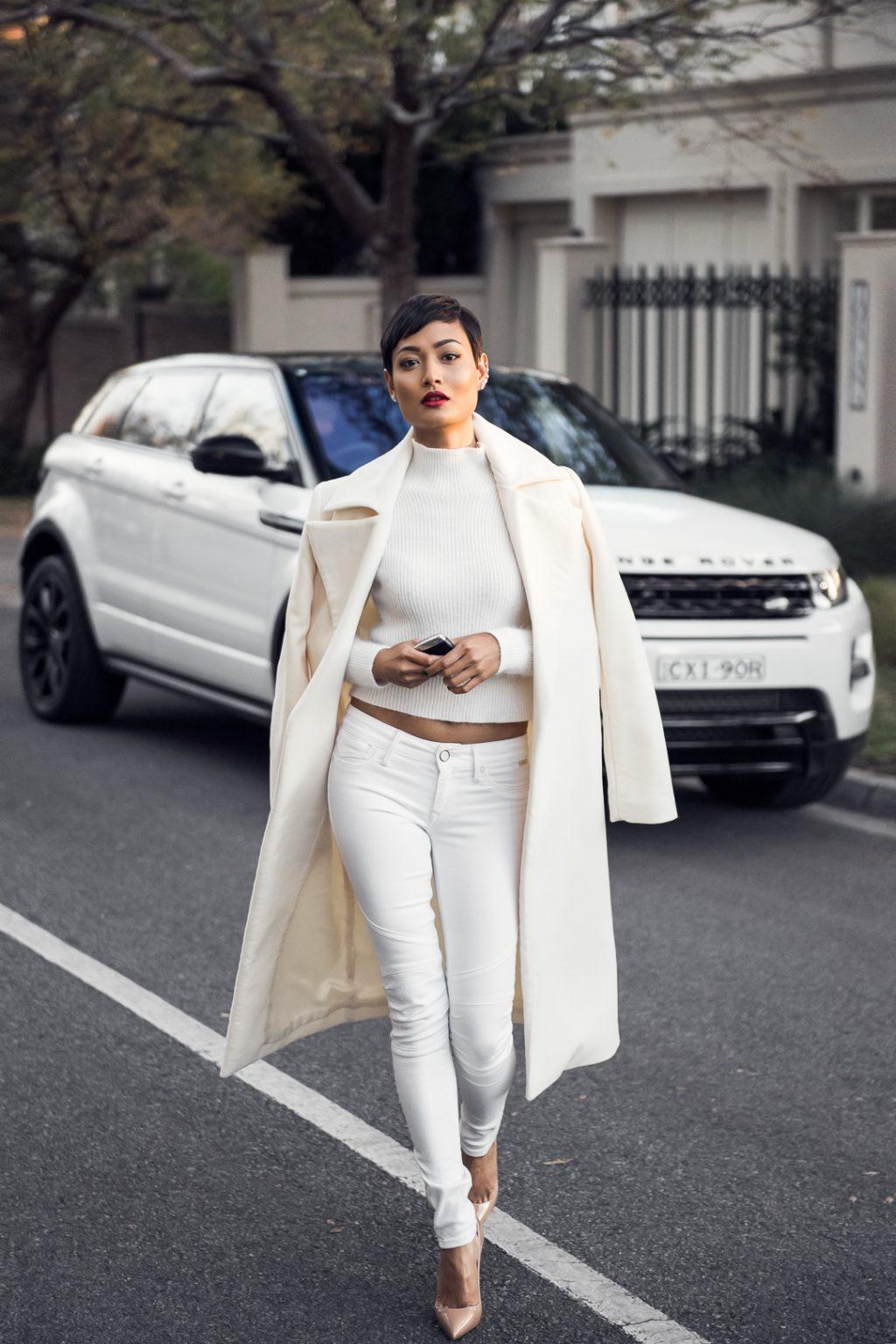 phối trang phục đẹp công thức white on white 8