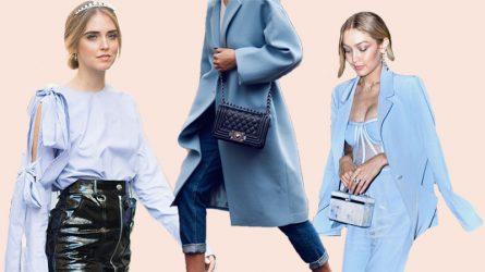 Màu xanh lơ (baby blue) - nét dịu dàng cho trang phục mùa Đông