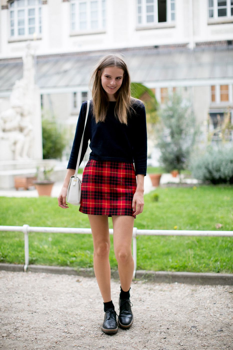 chân váy họa tiết tartan 7