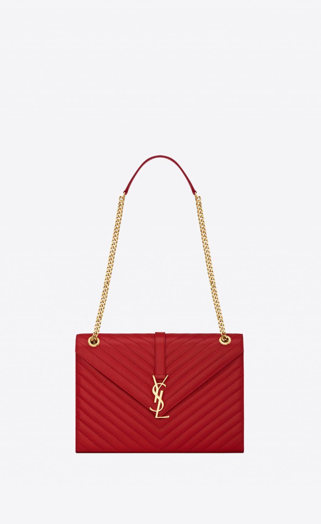 túi xách đỏ saint laurent