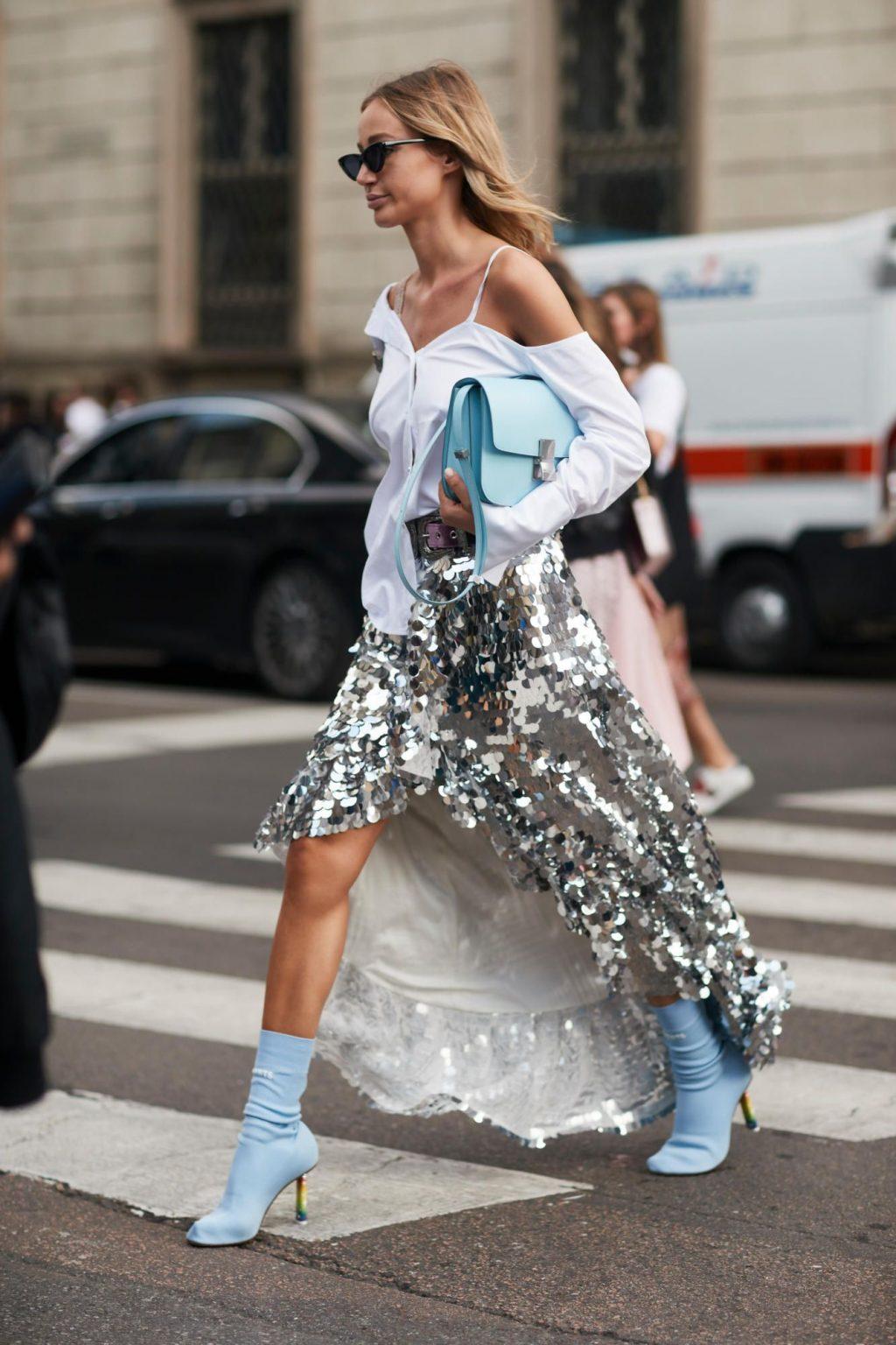 xu hướng thời trang dự tiệc glitter 14
