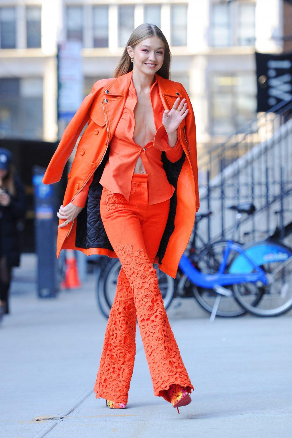 thời trang màu cam san hô 1