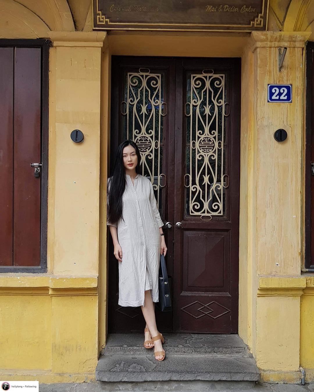 Thời trang du lịch tinh giản của sao Việt 7