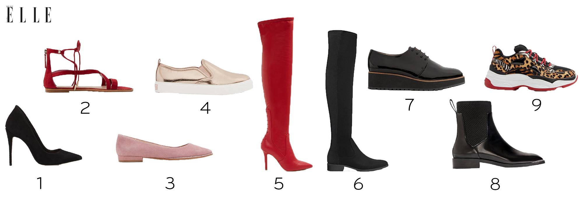 trắc nghiệm thời trang kiểu giày