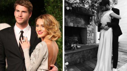 Váy cưới của Miley Cyrus đơn giản và tinh tế đến bất ngờ