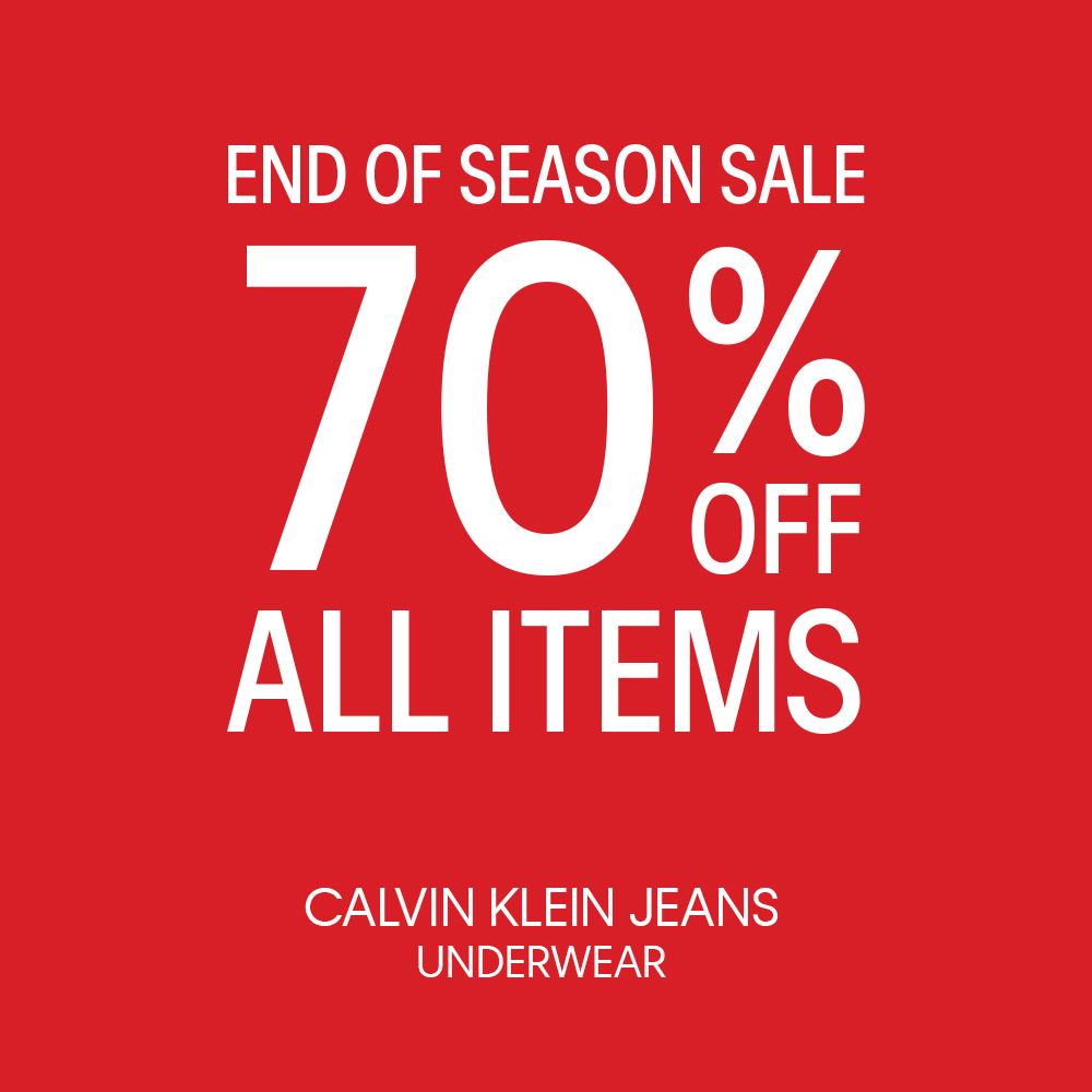 Đón cơn lốc ưu đãi từ thương hiệu Calvin Klein