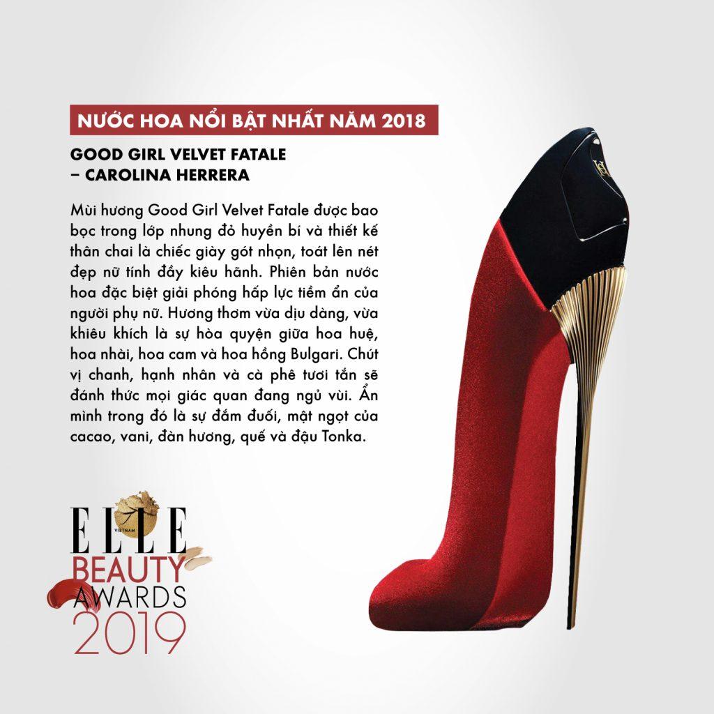 hương nước hoa 09 ELLE Beauty Awards 2019