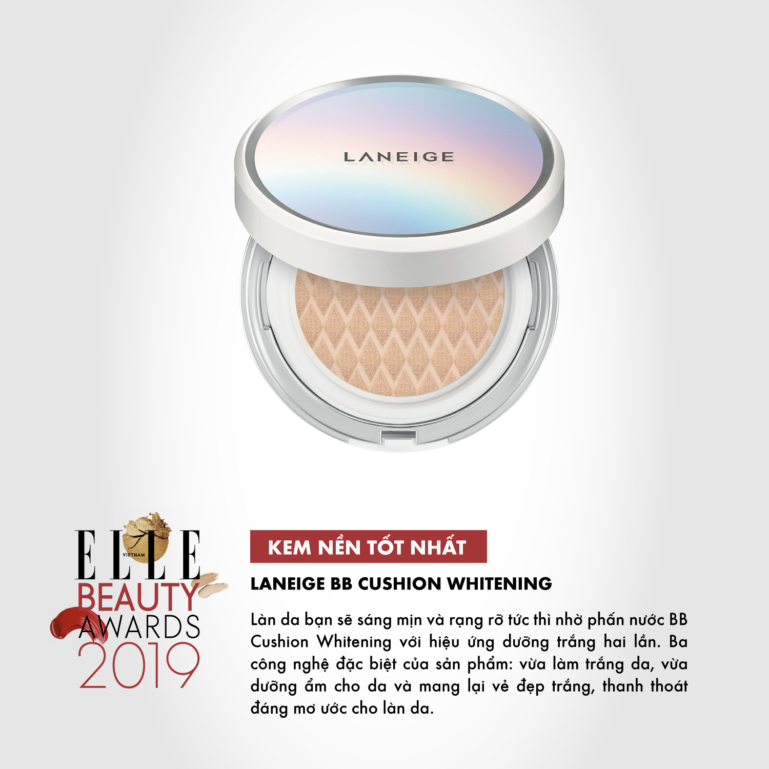 kem nền 04 ELLE Beauty Awards 2019
