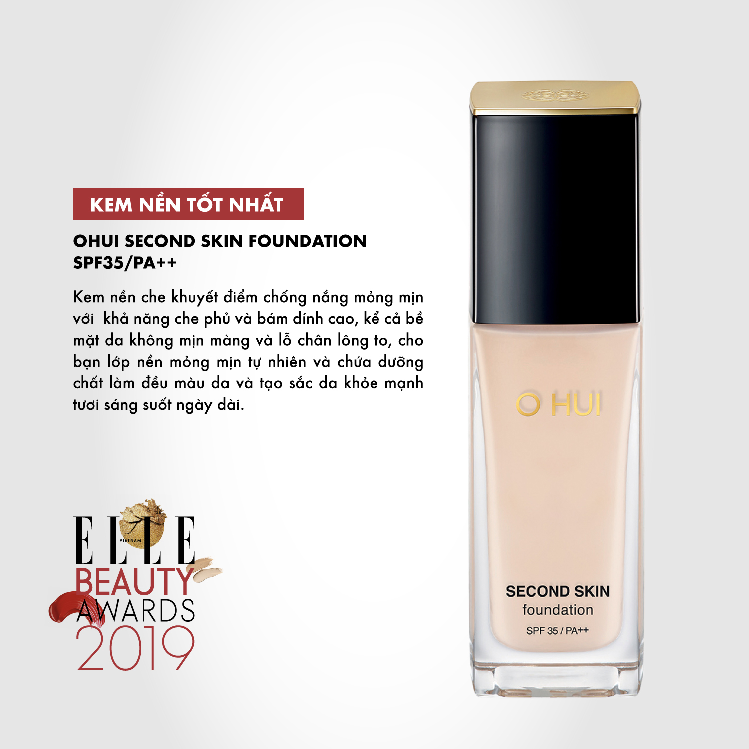 kem nền 06 ELLE Beauty Awards 2019
