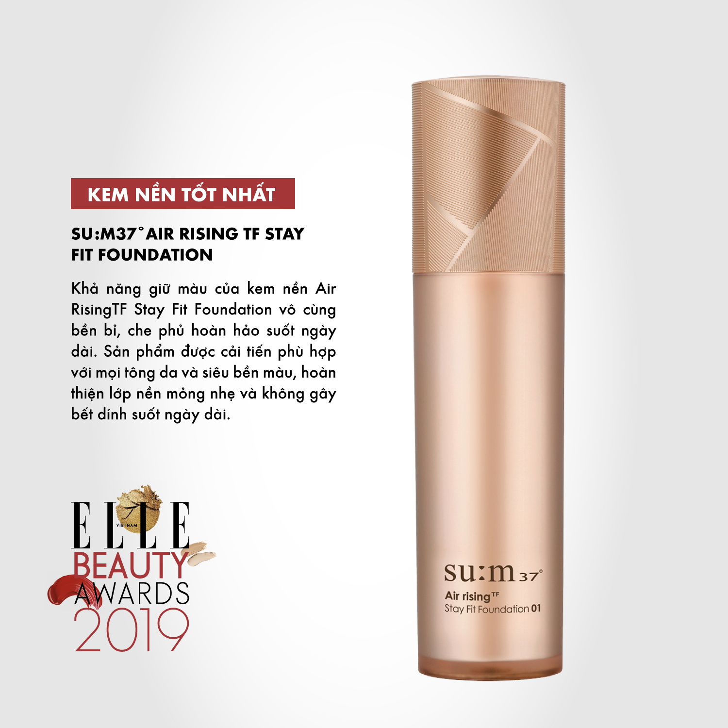 kem nền 07 ELLE Beauty Awards 2019