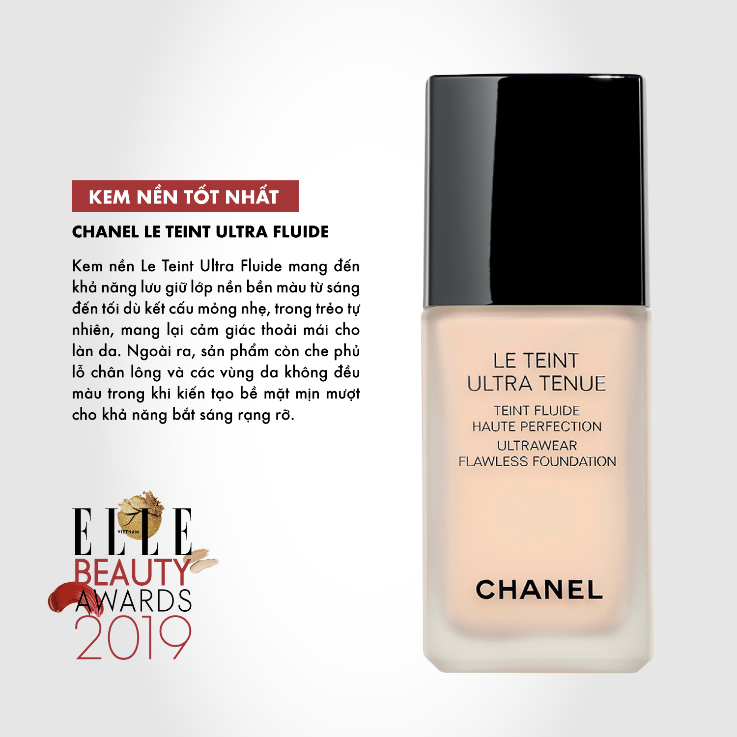 kem nền 09 ELLE Beauty Awards 2019