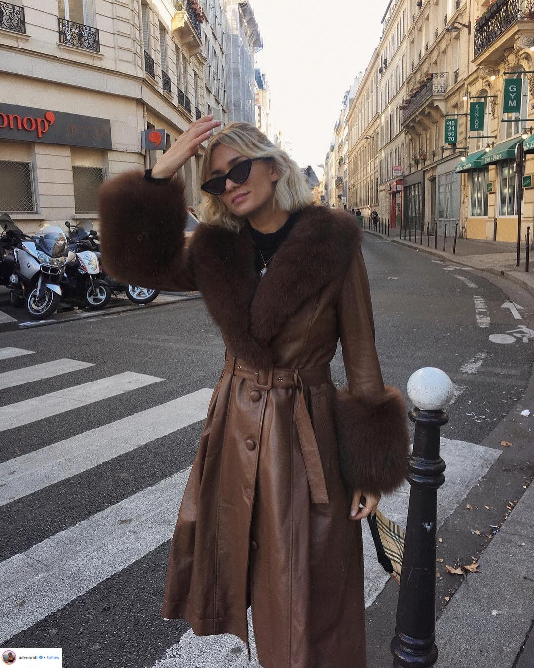 """Áo khoác viền lông – Xu hướng thời trang đang """"thống trị"""" mạng xã hội Instagram 7"""