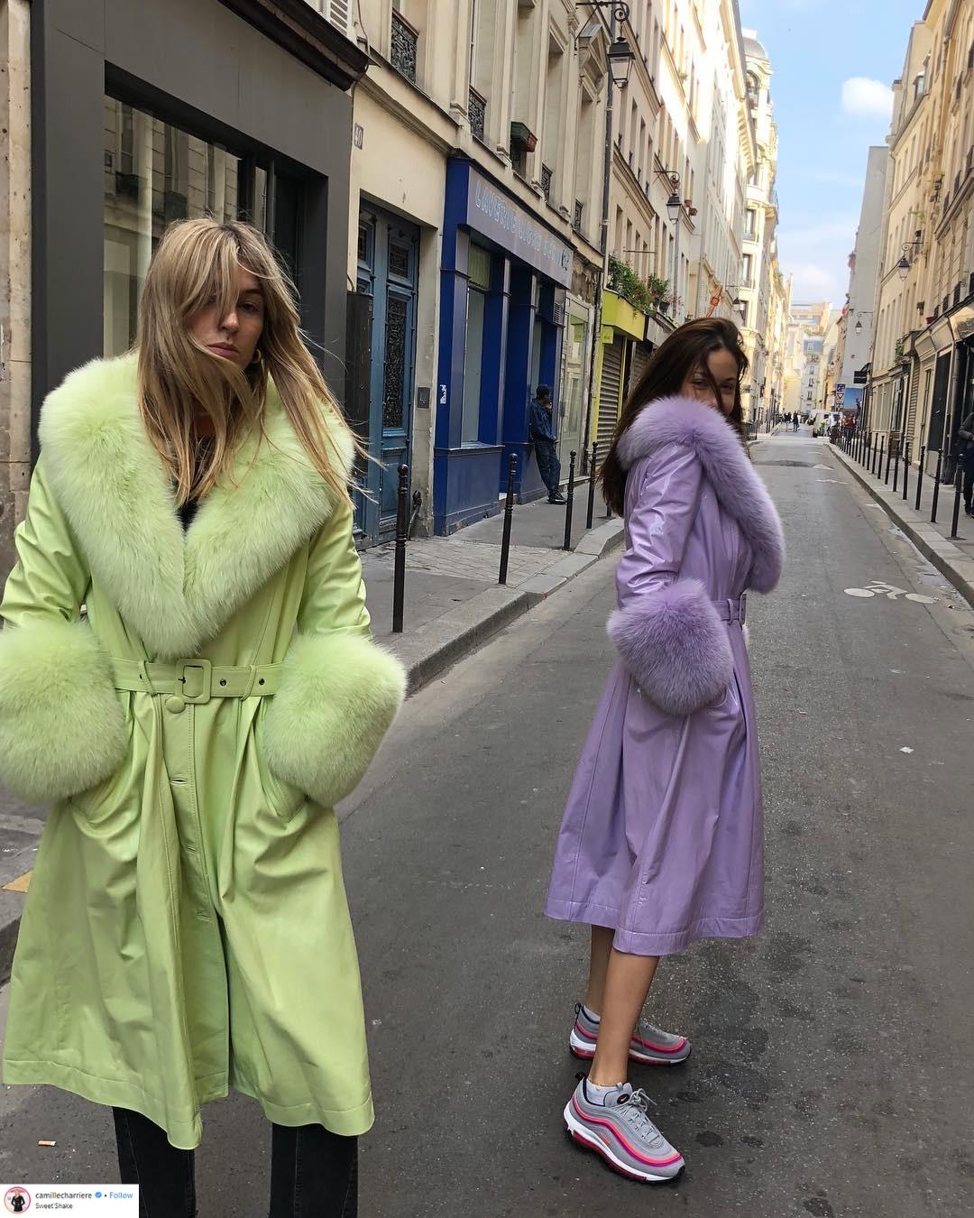 """Áo khoác viền lông – Xu hướng thời trang đang """"thống trị"""" mạng xã hội Instagram 9"""