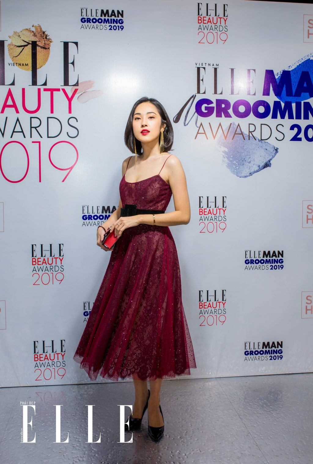 Beauty blogger Misoa duyên dáng tại sự kiện ELLE Beauty Awards 2019.