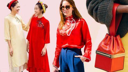 Bí quyết phối đồ màu đỏ tuyệt đẹp cho năm mới nhiều may mắn