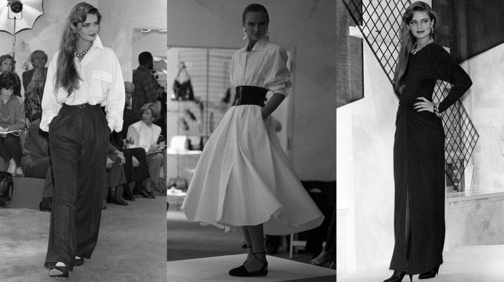 áo sơmi trắng, đầm sơmi, jumpsuit trong bst seven easy pieces của donna karan