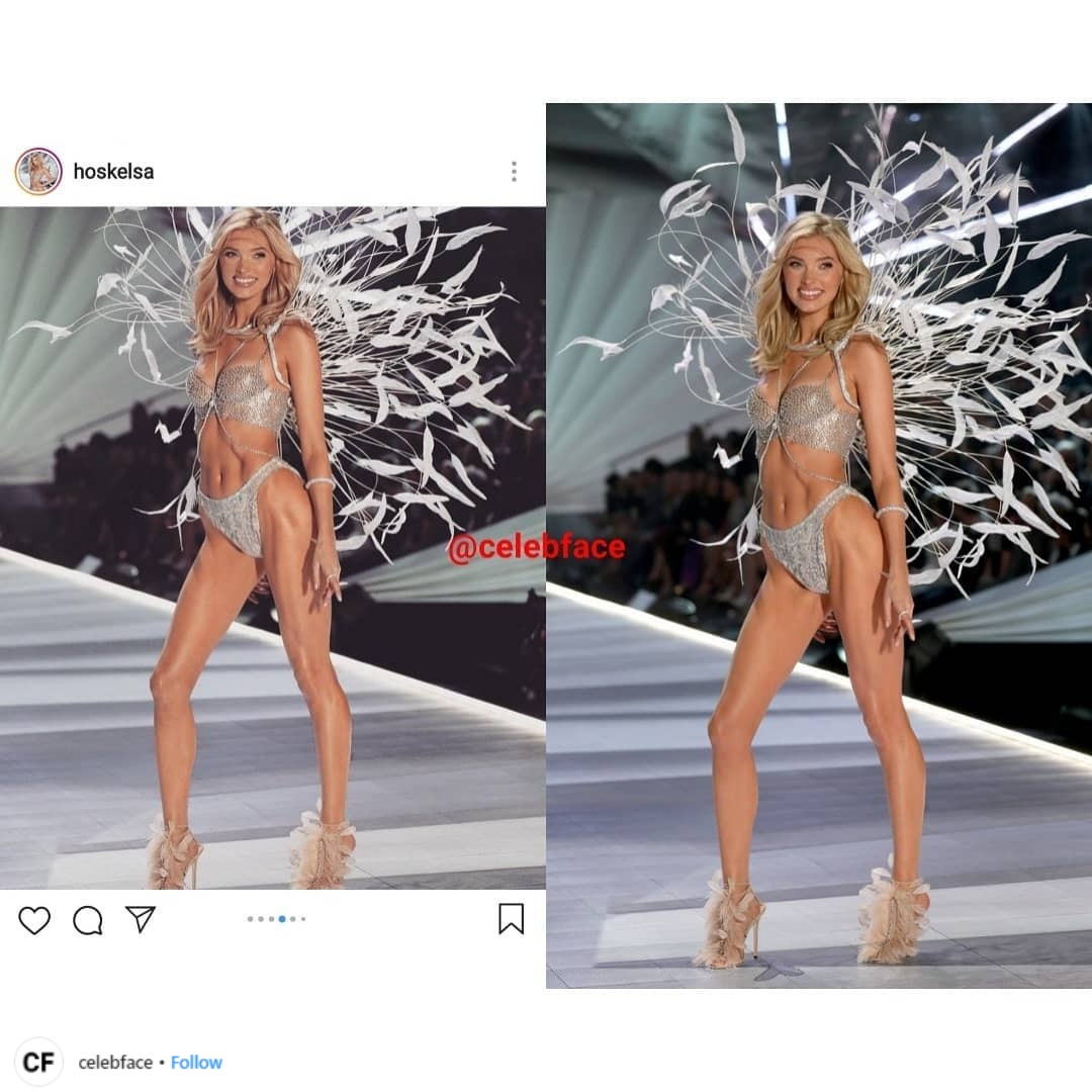 thiên thần victoria's secret Elsa Hosk mặc fantasy bra tại victoria's secret 2018