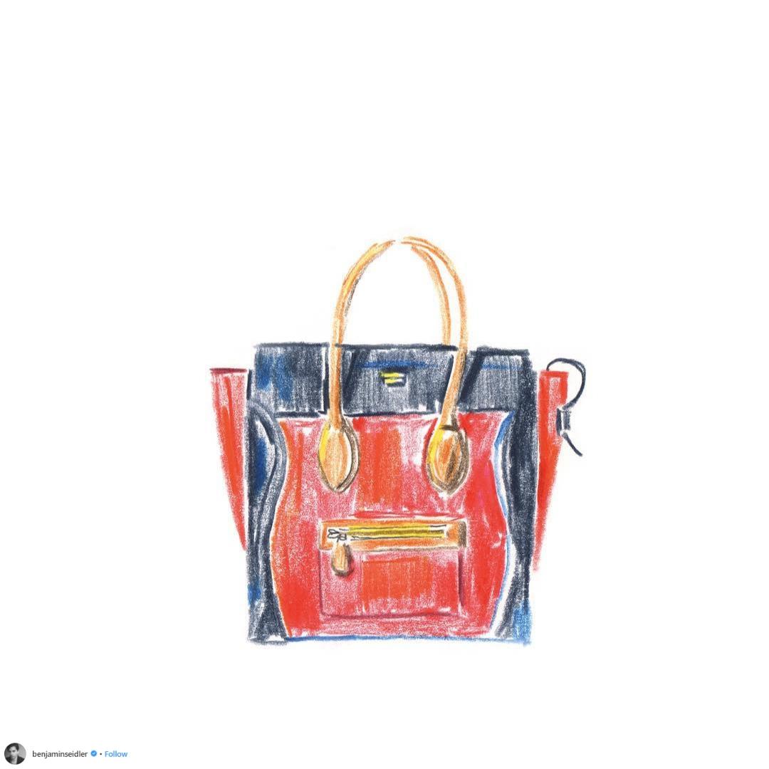 hình ảnh chiếc túi xách trên tài khoản instagram benjaminseidler