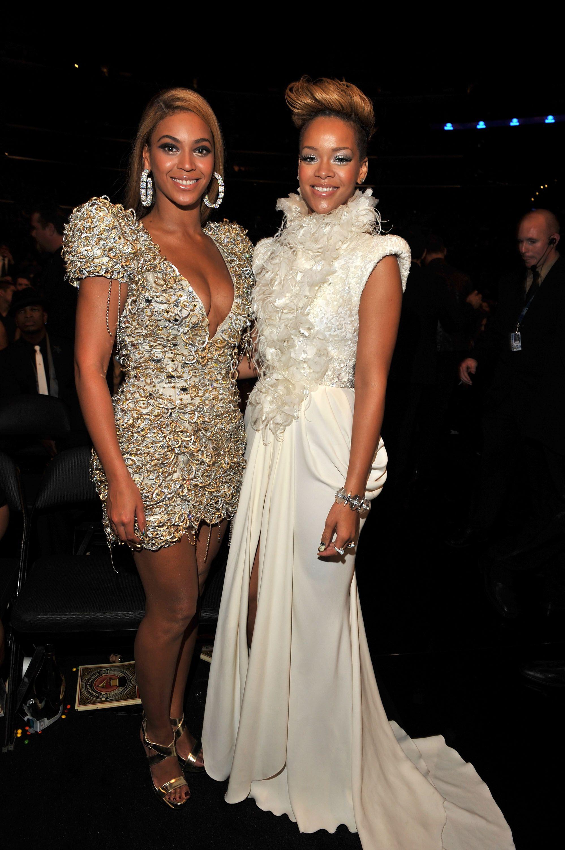 Thời trang thảm đỏ Grammy Beyoncé & Rihanna