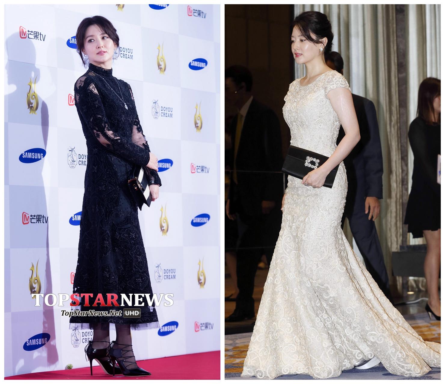 Mỹ nhân phim truyền hìnhHàn Quốc thường chọn váy ren có thiết kế tôn dáng. (Nguồn Ảnh: Topstarnews)